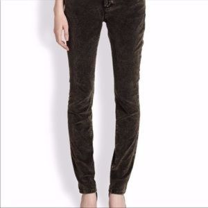 Eileen Fisher Acid Wash Velvet Skinny Pants